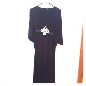 kimono stle dress with jewel center
